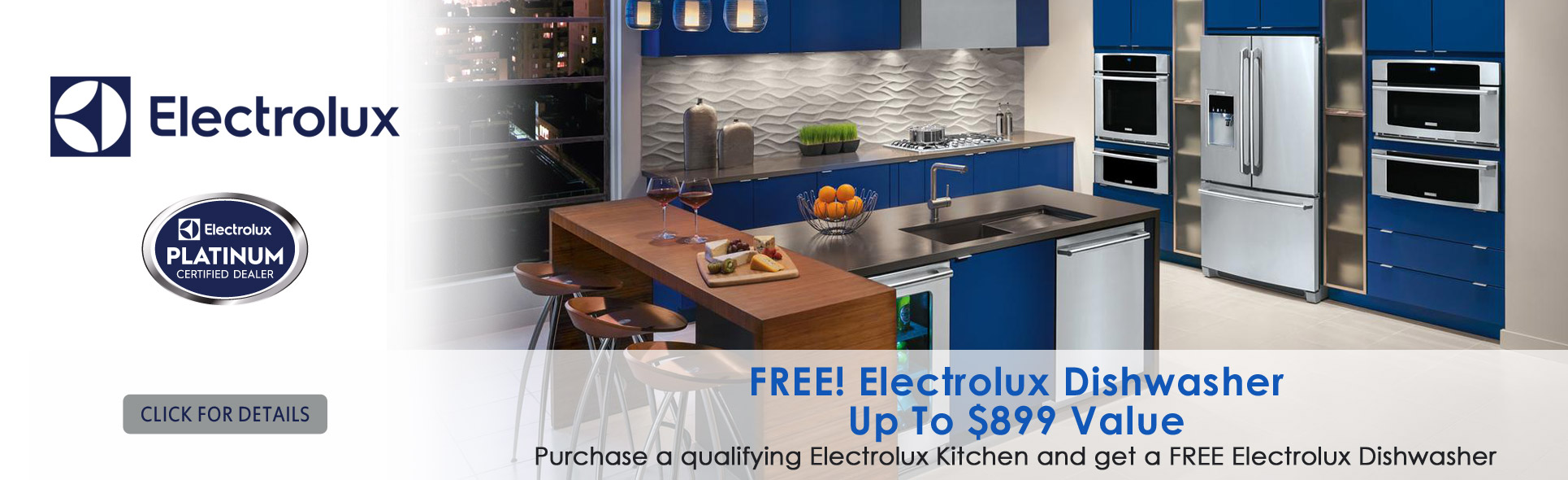 Free Electrolux Dishwasher with qualified purchase